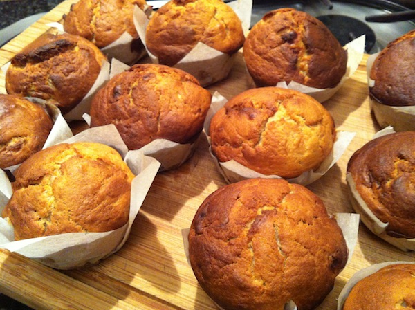 BANANA PEANUT BUTTER AND NUTELLA MUFFINS
