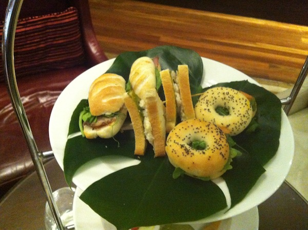 sandwiches at intercontinental high coffee