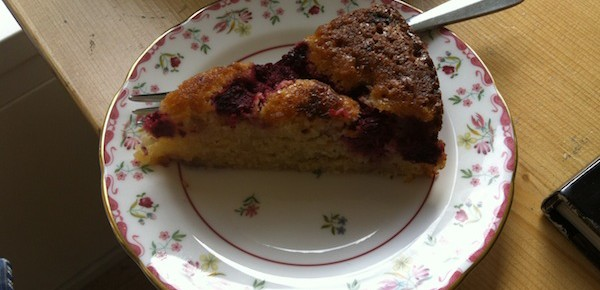 Coconut and Raspberry Cake (Gluten and Dairy Free)