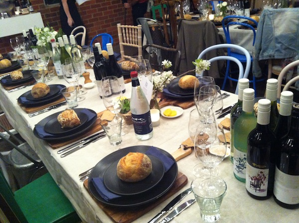 Brown Brothers table setting
