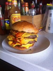 Jimmys Burgers cheesy burger