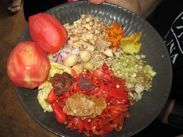 Casa Luna Cooking School meal