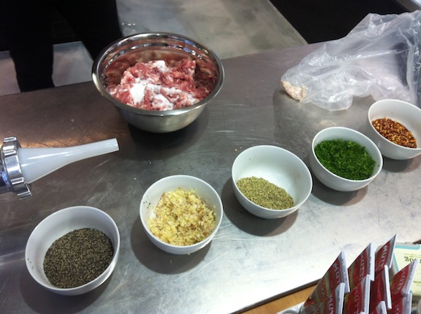 HUDSON MEATS SAUSAGE MASTERCLASS INGREDIENTS