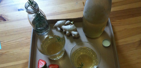 Ginger, Rosemary and Mint Iced Tea