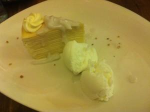 Jinda Thai Coconut Crepe Cake