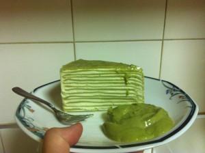 Jinda Thai Green Tea Crepe Cake