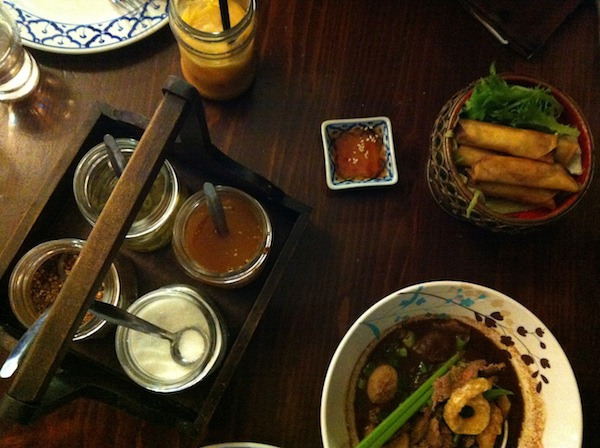 Jinda Thai soup and spring rolls