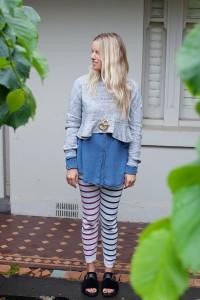 Lucy Folk stripey lookaway