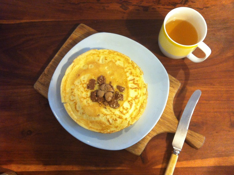 Decisive Cravings Pancake Recipe tea and saucer