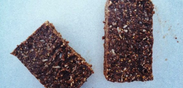 Guest Recipe: Raw Chocolate, Tahini and Coconut Slice