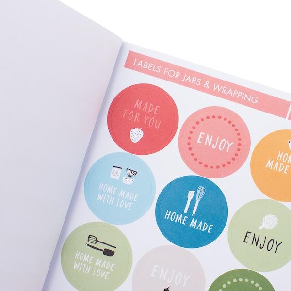 Decisive Cravings Kikki K Foodie Gifts_diy_sticker_book_multi_2