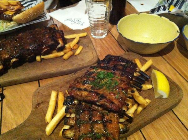 Lamb and Beef ribs at Ribs and Burgers