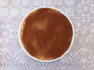 Decisive Cravings Tiramisu cocoa dusted top