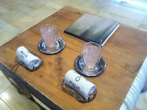 Mulia Bali Spa welcome drinks