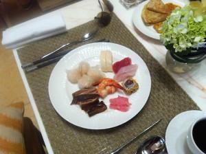 Mulia Bali The Cafe sashimi platter
