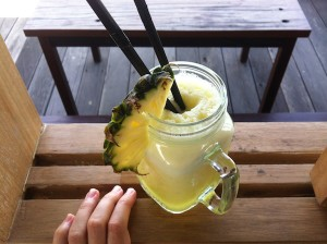 Pineapple drink Canggu beach