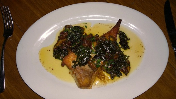 The Last Jar Roasted Skate wing slippery jacks pickled periwinkles crispy kale and brown butter thirty dollars edited