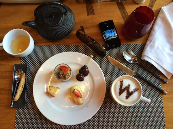 The W Seminyak Dessert flatlay