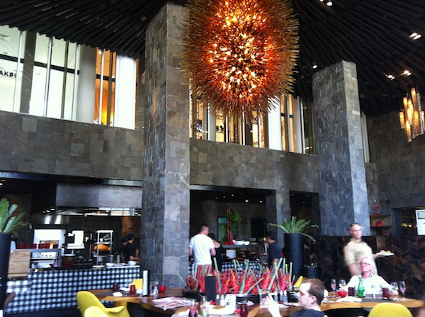 The W Seminyak Fire Restaurant inside