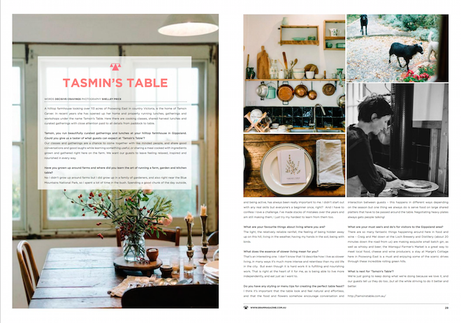 GRAM MAGAZINE Tamsins Table feature issue 68 December 2016