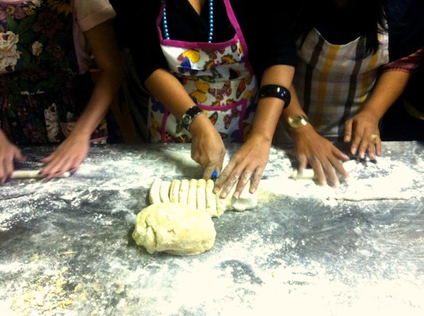 Gnocchi production line cutting dough final