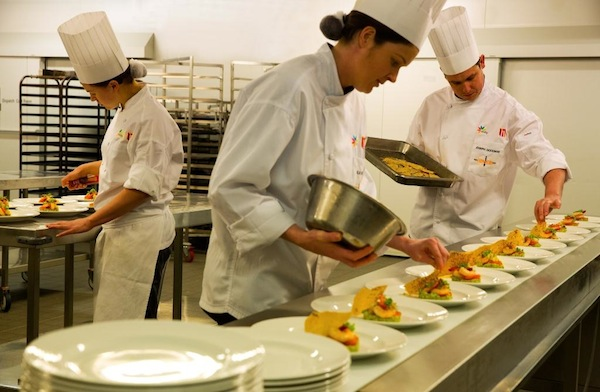 MCEC Chefs plating up