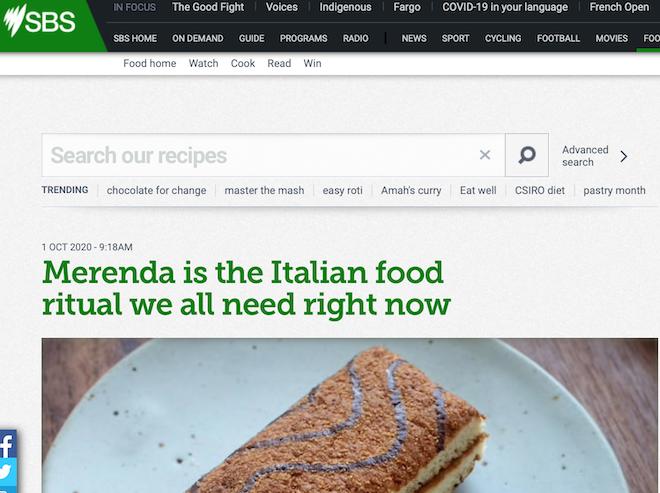 SBS Food Merenda October 2020 Jen Curcio