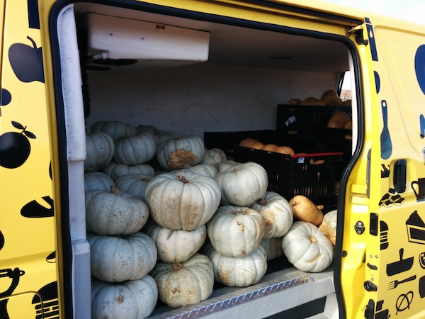 OzHarvest pumpkins in truck