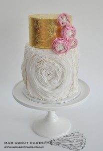 Mad About Cakes pink and white two tier