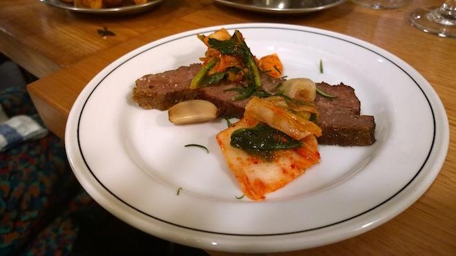 Nieuw Amsterdam for Taste Air - beef brisket with kimchi