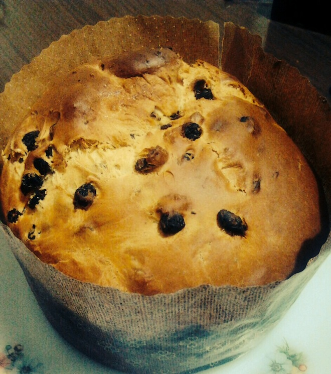 The Panettone baked and ready to eat