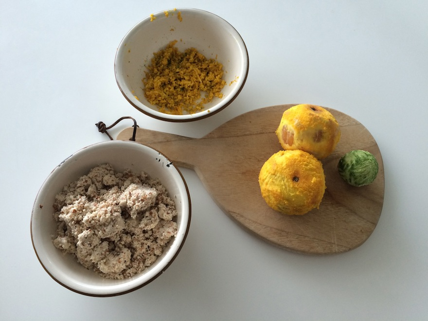 MANDARIN LIME SEMOLINA CAKE dry ingredients and citrus