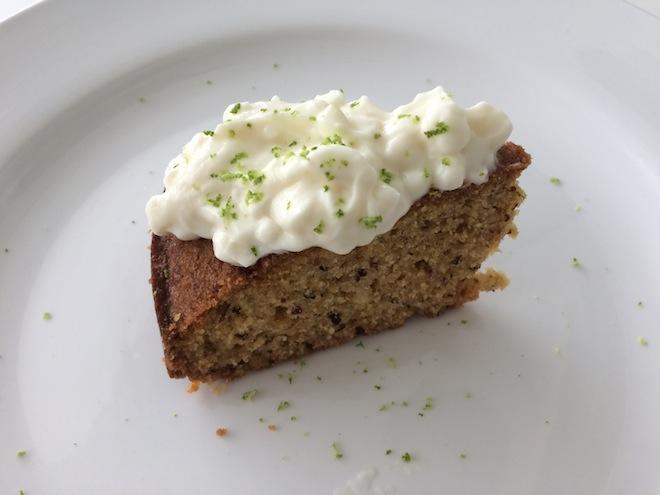 MANDARIN LIME SEMOLINA CAKE side diagonal