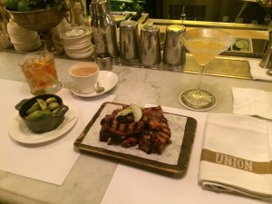 Union Bistro ribs and martinis