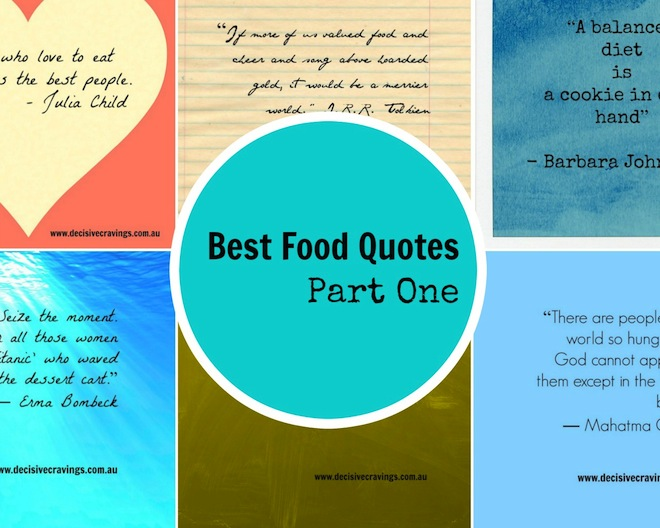 Best Food Quotes Part One Cover