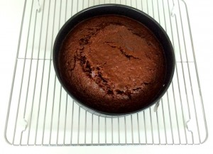 Chocolate Beetroot Cake out of oven