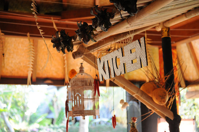 Kitchen sign at Casa Luna Ubud by Anggara Mahendra