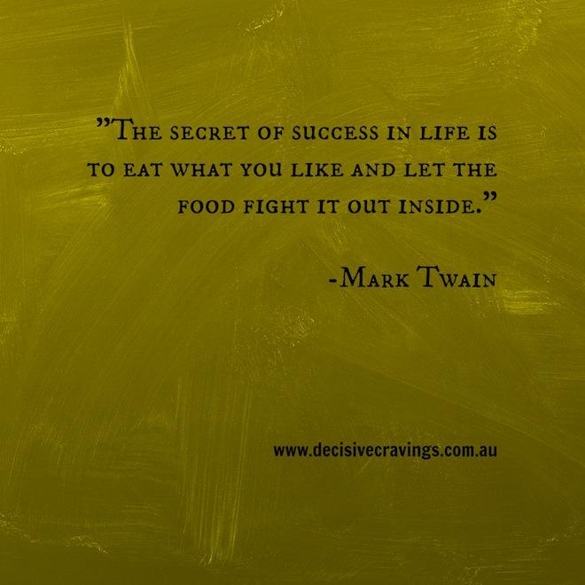 Mark Twain Food Quote