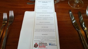 Dine from Melbas Garden MFWF Menu
