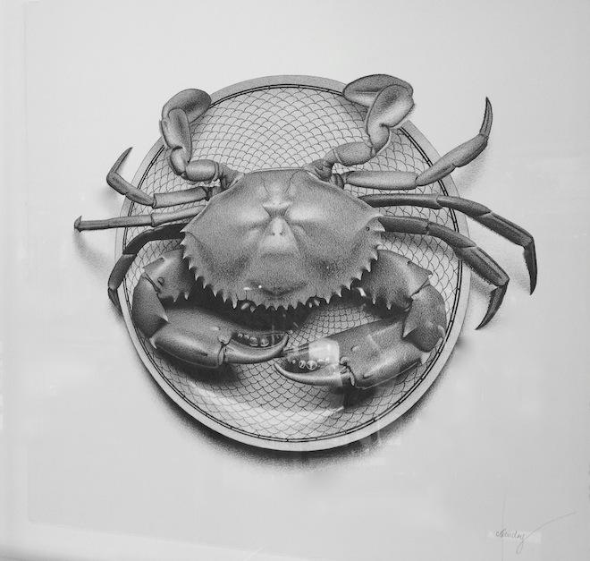 CJ Hendry Exhibition crab