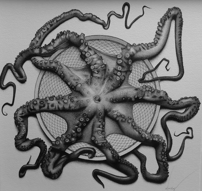 CJ Hendry Exhibition octopus