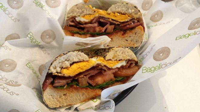 Bagelicious Egg and Bacon