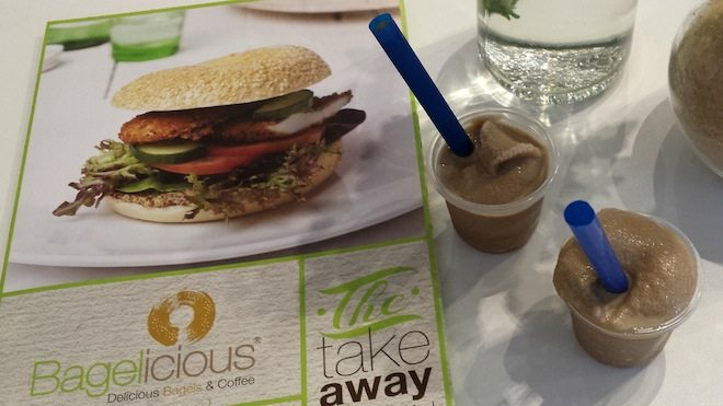 Bagelicious takeaway and iced coffees