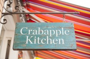 Melbourne's Best hot chocolate Crabapple Kitchen sign