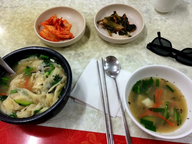 Samcheong Sujaebi Restaurant Soup with the works