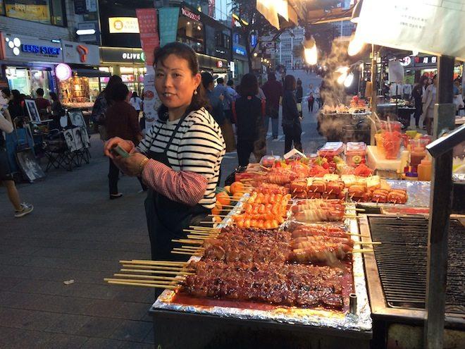Seoul Food Skewer Street Food