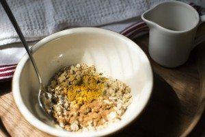 Bircher Muesli adding turmeric