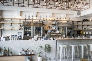 Rocket Coffee Bar counter Cool Cafes in Bangkok