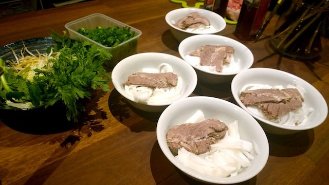 OTAO Kitchen Vietnamese Cooking Class pho bowls with meat and noodles