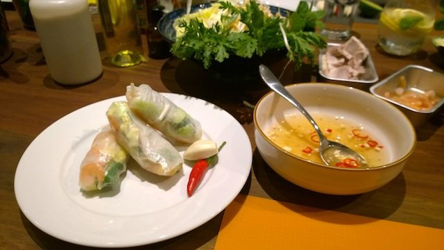OTAO Kitchen Vietnamese Cooking Class rice paper rolls
